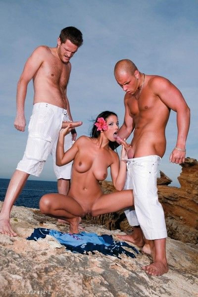 Sexual brunette princess black fucked in ibiza act of love party