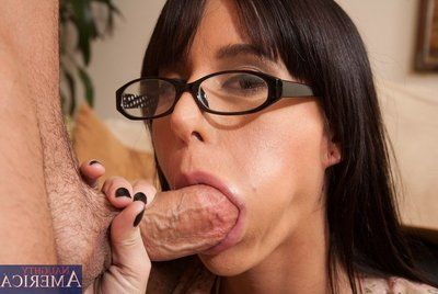 The perspired titsy four eyed chick Gia Dimarco furious anal and oral penetration
