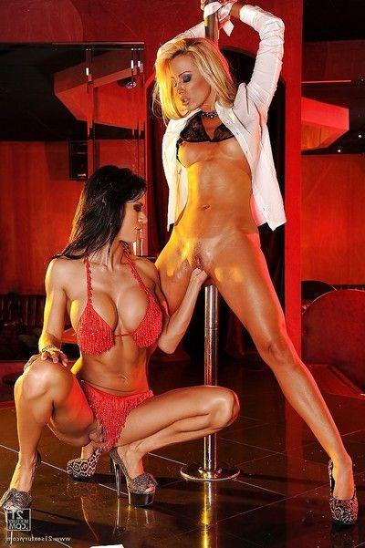 Outstanding milf Latina pornstars Sandy and Franceska Jaimes dancing