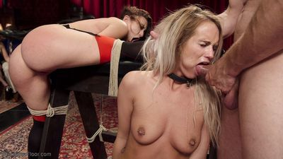 Shy and proper southern belle is trained by big booty anal slave mandy muse in h