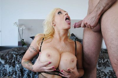Raw busted tattooed fairy-haired with ample a-hole gets anally crashed by hang pal
