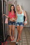 Juvenile European MILFs Lana & Samia Duarte attractive ass-pounding in triple class copulation