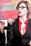 2 hungry MILF are admires hardcore arse hole smokin\' in the office