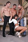 Ache youthful Melanie Memphis receives blowbanged and bonked by 3 chaps