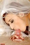 Lewd bride in white hose Gina Floozy obtains off with a anal plug