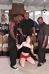 Hot redhead hottie Scarlett Sexy is pounding in a moist interracial scene