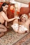 Wild lesbian hotties Eve Cutie and Danielle Maye are playing with toys