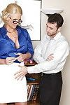 Pleasant patriarch in nylons and glasses Phoenix Marie anus dug