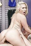 Pornstar AJ Applegate winsome anal from large knob afterwards giving gloryhole BJ