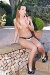 Outdoor masturbation with an appealing angel Cheryl S and her toys