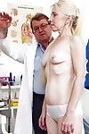 Elderly fairy in nylons having furry cage of love examined by gyno doctor