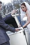 Juggy bride gives head and purchases her holes penetrated severe outdoor