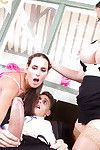 Cathy Heaven and Mea Malone oral sex and fuck any massive stick within raech