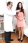 Brunette hair Maya likes fetish, that\'s why that babe visits her heartless doctor