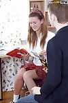 Juvenile schoolgirl is enjoying assfucking with her house mentor