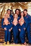 triple perspired bombitas in surprising astronaut alien group sex in uranus
