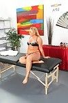 Bootylicious fairy Flower Tucci takes off her office uniform and accepts cornholed