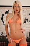 Pretty fairy Angelina Love in orange  purchases her concupiscent anus drilled