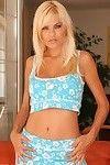 Breasty pretty Jasmine Rouge takes off her blue undergarments and takes her boyfriend\'s powerful bone