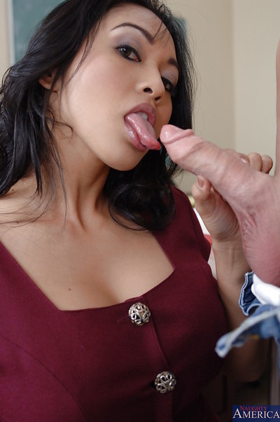 Milf advisor Mika Tan is giving a superior sexual act lesson to her student