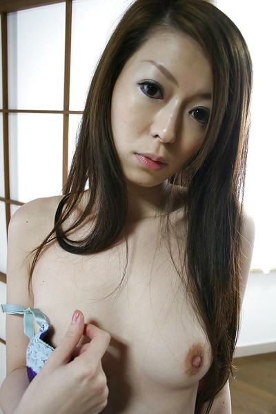 Chinese dear Mai Katagiri undressing and exposing her seductive stoops