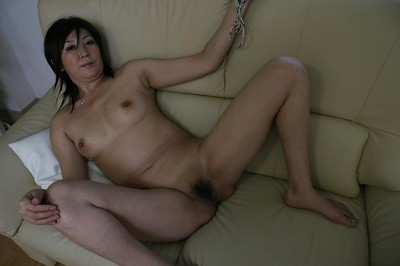 Vivacious Japanese wench Keiko Ayata showing yummy wavy snatch