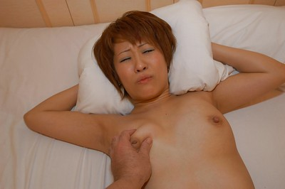 Eastern MILF Kyoko Nogi gives a dick sucking with hairy mat-bag licking and obtains shafted massive
