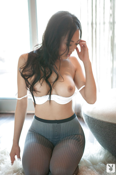 Extreme Chinese queen Kitty Lee striptease off her underware and cylinder