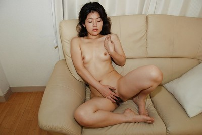 Milf Eastern Yuko Goto shows off her compact love melons in a wild underware