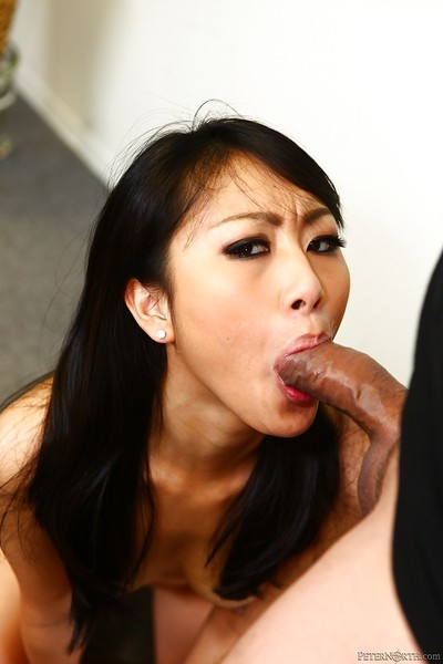 Muddy Chinese pretty Evelyn Lin benefits from facialized exactly after a physical cocksucking