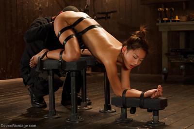 Oriental hottie Alina Li feels diminutive mambos suffer painful clamping and expanding