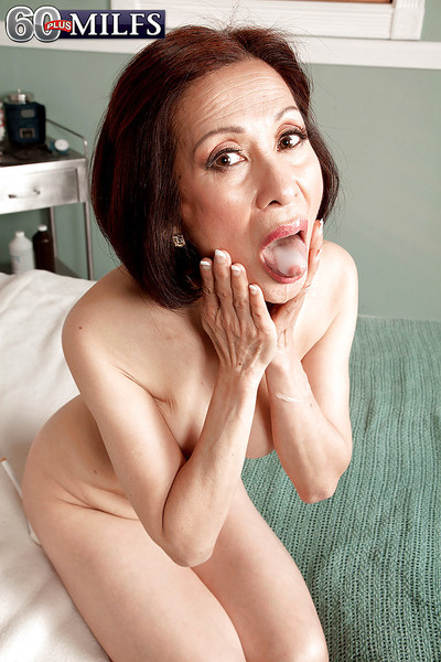 Over 60 Oriental MILF Kim Anh and raw weenie tempting in hardcore act of love