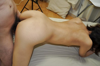 Japanese young gives head and obtains her curly cum-hole cocked up in close up