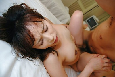 Japanese MILF gives a corporeal fellatio and receives her curly twat shafted