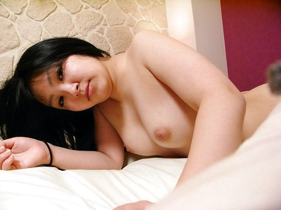 Eastern beauty Maya Yasuhara undressing and vibing her wavy gash