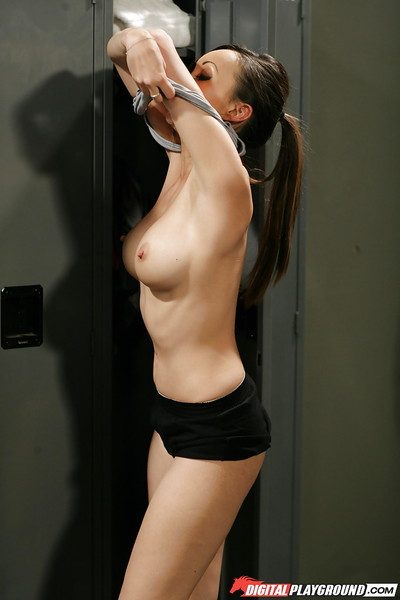 Chinese milf dear Katsuni is undressing her tense outfit later on a workout