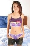 Youthful Eastern model with huge scones teases her furry love-cage at the same time as undressing