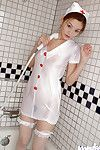 Polite eastern nurse in  Ray Ito erotic dance and lovely bath