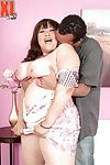 Eastern BBW Twilight Starr tit smothering man\'s face with enormous bra buddies