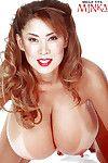 Chinese MILF illustration Minka unleashing heavy boobs and stiff waste from short underclothing