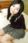 Shaggy uterus brunette hair Megumi expanding her Japanese unshaved uterus