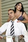 Hory Chinese wench Roxy Jezel receives drilled and takes a spunk fountain on her tongue