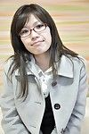 Faultless oriental milf dark brown Tomoyo showing her body and furry muff