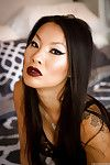 Sultry Japanese lass Asa Akira modelling in cover and hawt underware