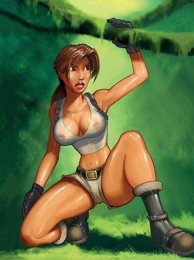 Lara croft porn caricatures