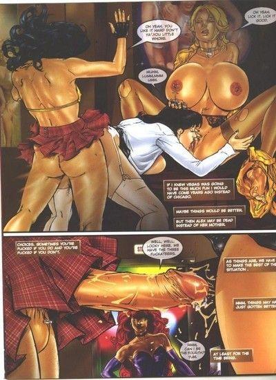 Clammy manga girl getting lavish cum shot