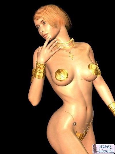 Toon model with boob edge pasties location