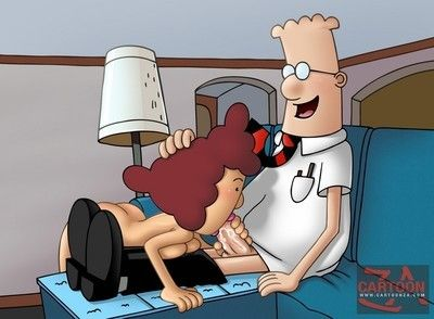 Favourable office man dilbert getting pussy