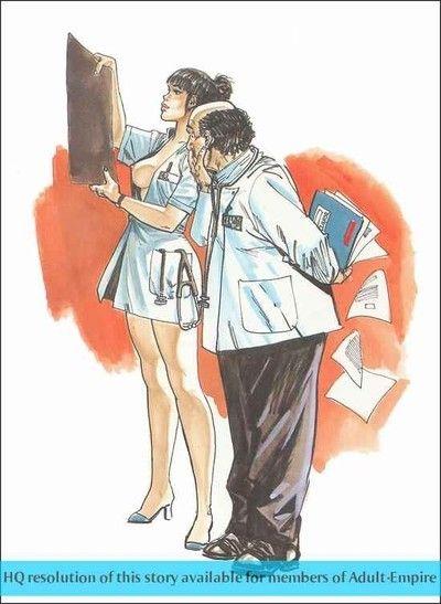 Clammy mature comics with hot lass engulfing shlong