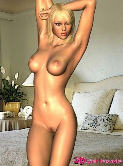 3d girlfriend mary showing sexy titties and compact cooshie